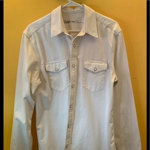 GAP heavy cotton cream colored western shirt